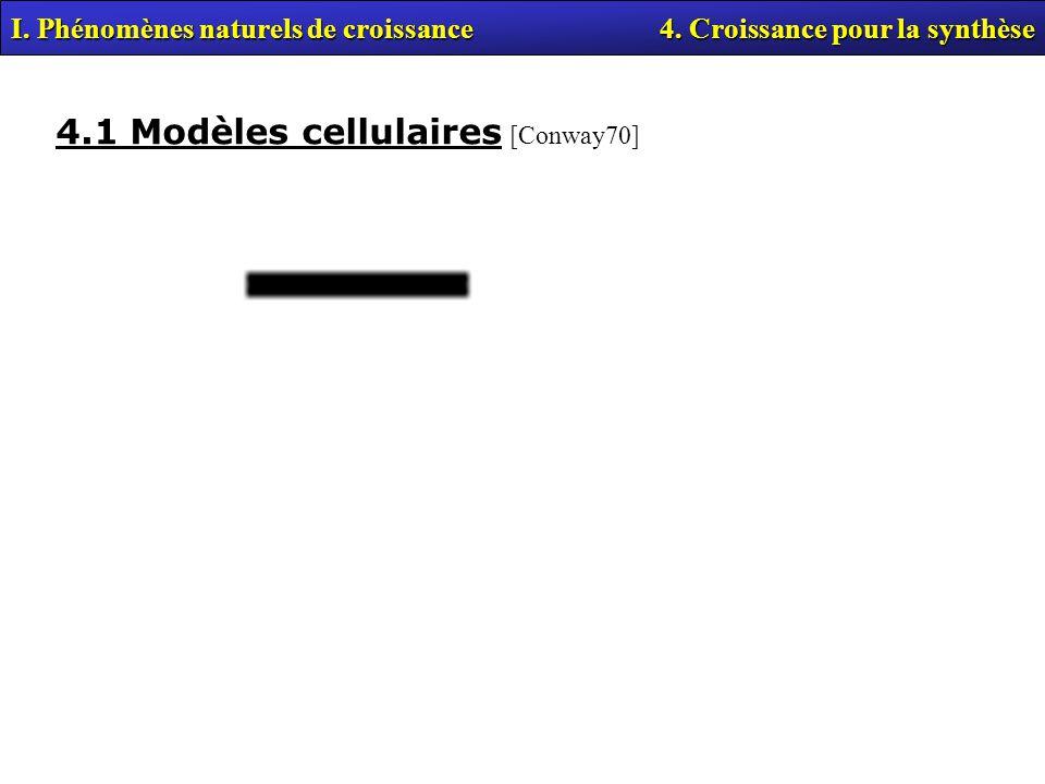 4.1 Modèles cellulaires [Conway70]